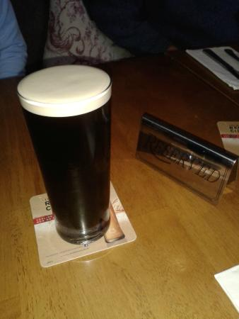 Snitterfield Arms: A well deserved Guinness - bar staff allowed time to settle
