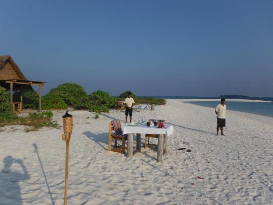 Horubadhoo Island: Chef dinner on private island