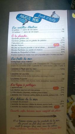 La Tranche sur Mer, France : menu
