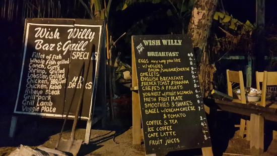Wish Willy - Bar & Grill : Menu