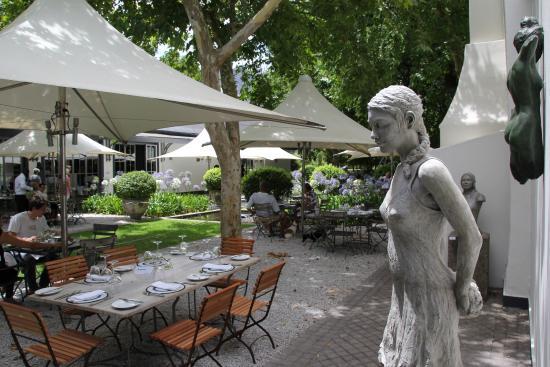 Franschhoek, Südafrika: outdoor dining