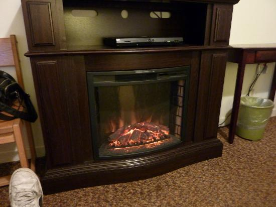Klamath River Resort Inn: Room heater (fake fireplace)