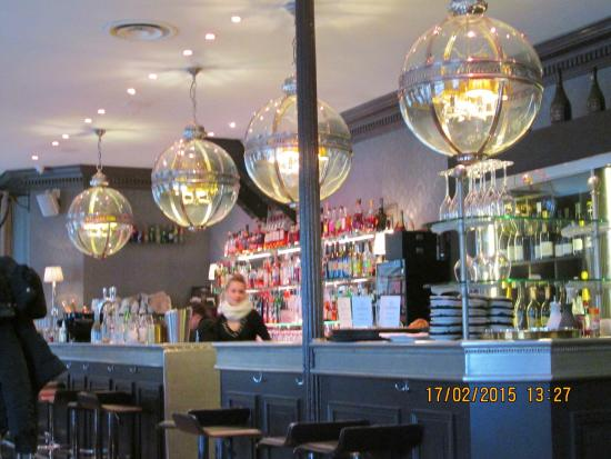 Bar at the Diplomatico restaurant, Lyon