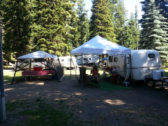 Wallowa Lake State Park : Our campsite in Wallowa state park