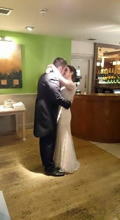 Our first dance at the hopping hare