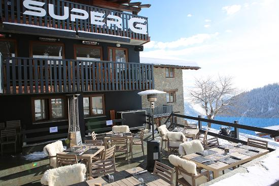 terrazza ristorante - Picture of Super G Restaurant, Courmayeur ...