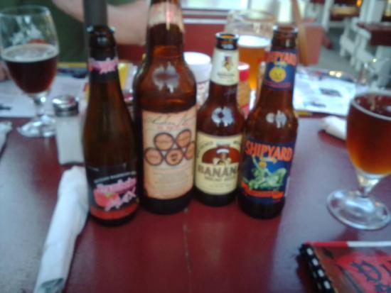 The Viking Garden Restaurant & Cellars : Beer choices we had