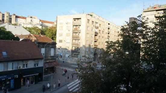 Double Door Hostel: View from male dorm