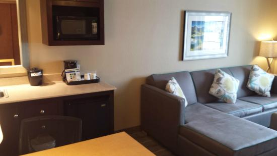 Holiday Inn Express Hotel & Suites Wheat Ridge-Denver West: living room and kitchen sink