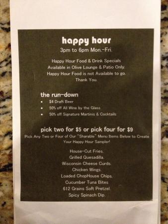 Hilton Minneapolis/Bloomington : Bar happy hour weekdays