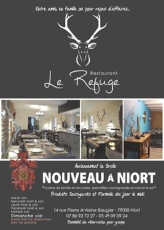 Restaurant le refuge dans niort avec cuisine fran aise for Cuisine you niort