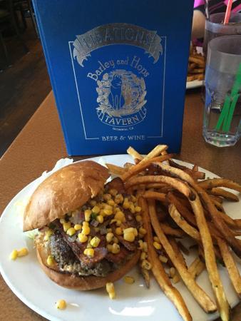 Barley and Hops Tavern: The Alamo burger!!!