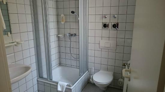 Hotel Adler: Dusche und WC
