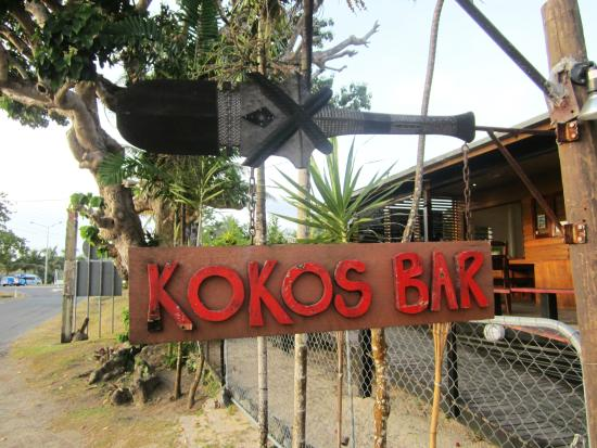 Koko's Bar: Sign across the street