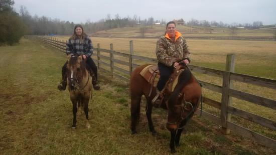 Seventy-four Ranch: trail ride in the cold