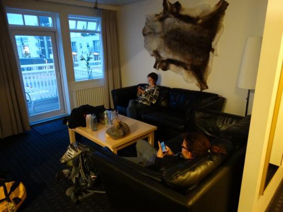 Hotel Ibudir : The living room.
