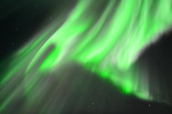 Little Red House: Nordlicht über Oldervik