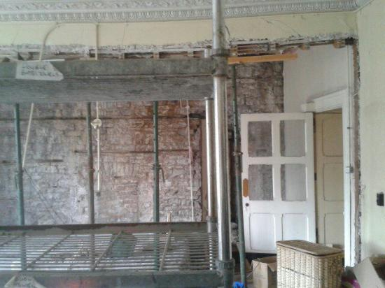 Penycae, UK: One of the rooms looked at on 2nd floor. Face seen after photo taken. Can you see it..  Booooo