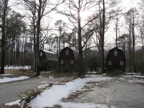 Carawan's Motel and Cabins: View of cabins