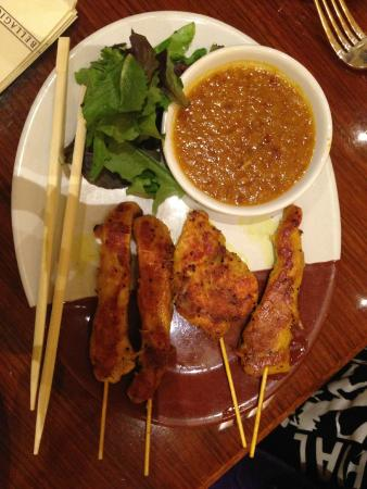Noodles: Chicken Skewers with peanut sauce
