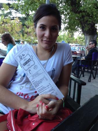 Viamonte Restaurante: Con carta en mano