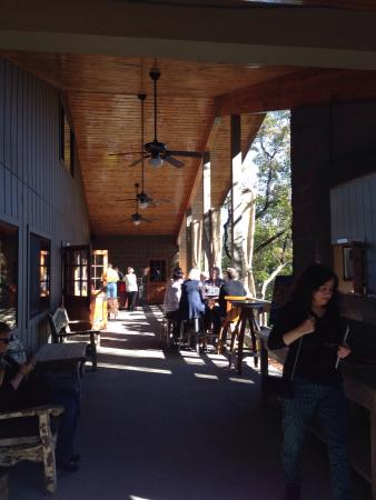 Rombauer Vineyards: The terrace with tables for tasting and relaxing with a glass of wine