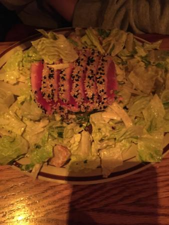 Ore House at the Pine Grove: Caesar salad with seared tuna...not too good...