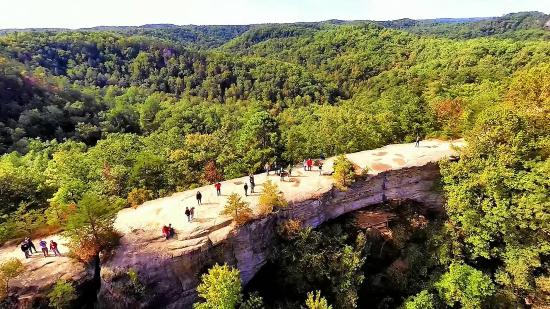 Slade, KY: Aerial View of the Natural Bridge