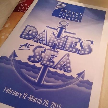 Oregon Cabaret Theatre: Dames at Sea pamphlet