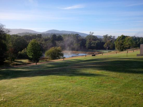 RACV Healesville Country Club: As the mist clears nearby mountains are revealed