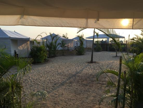 Paros by Amarya: Another view from the deck of the tent