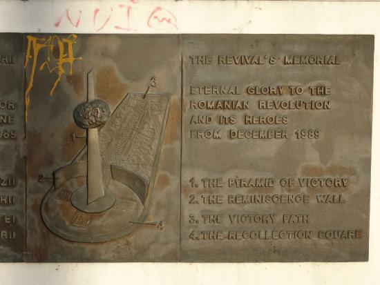 Revolution Square (Piata Revolutiei): Memorial of Rebirth plaque