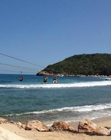 Dragons Breath Zipline: The photos may look like you touch the water but you aren't as close at it appears.