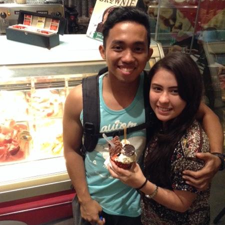 Gelatissimo: my two favorite things: him and ice cream :)