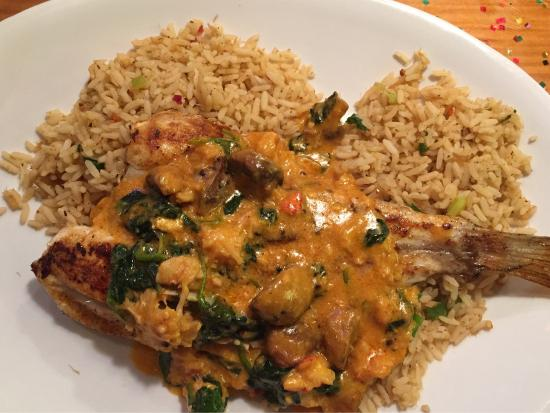 Red fish and lobster with crab rice picture of joe 39 s for Two fish crab shack