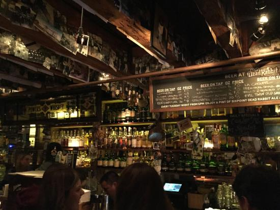 the downstairs tap room picture of the dead rabbit new york rh tripadvisor com sg tap room nyc tap room nyc