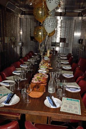 Private room in the old bank vault - Picture of Jamie\'s Italian ...