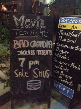 Movie night - Picture of OMG! Sports Bar and Restaurant, Ko