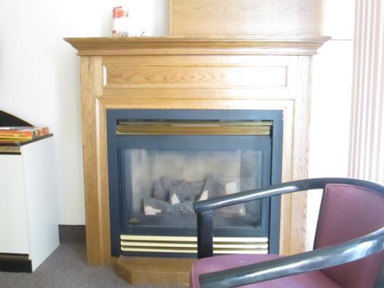Americas Best Value Inn - Chalet Inn and Suites: Fireplace In Room # 110