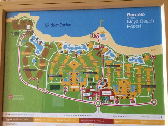 Barcelo Maya Colonial Map Of Resort