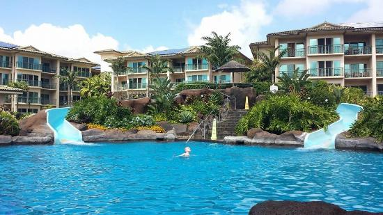 Waipouli Beach Resort Waterslides And Pool
