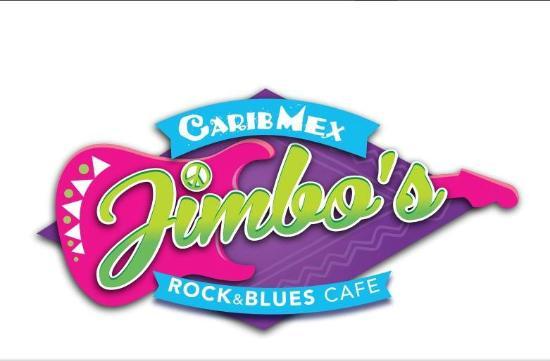Jimbo's Rock & Blues Cafe: Jimbo's classic logo - Carib/Mex cuisine...a little bit of Caribbean mixed with Mexican...ole