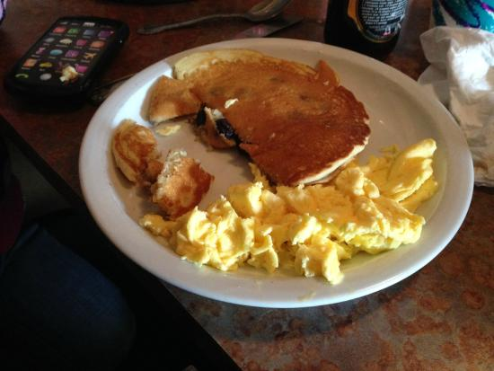 Lightship Restaurant: Sunday $1 menu, blueberry pancake 2 eggs