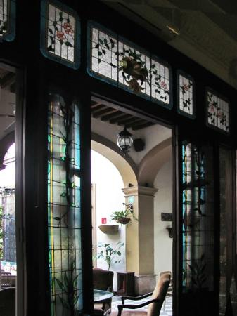 Casa Pedro Loza: Some of the beautiful stained and leaded glass