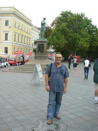 Duke de Richelieu monument : тот самый люк и Дюк