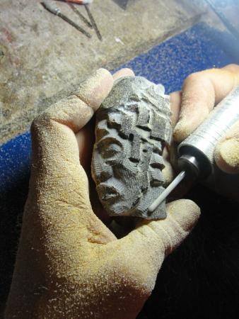 Museo del ambar Lilia Mijangos: EScultura en proceso....