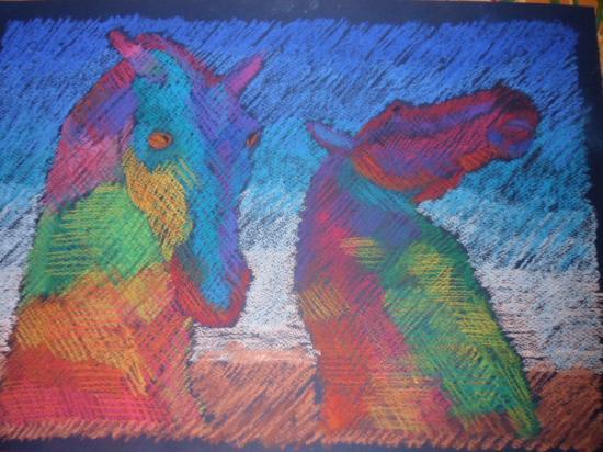 art4you Scotland: Kelpies in pastel