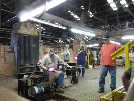 Making Vases Picture Of Blenko Glass Company Studios Gallery
