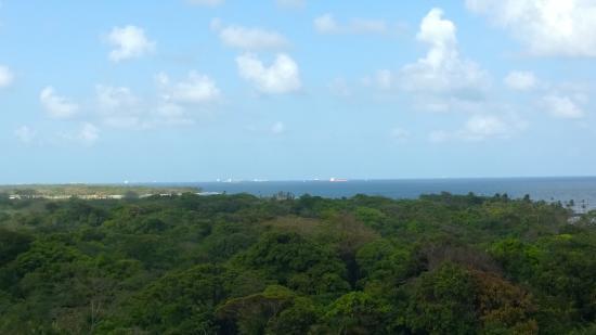 Bala Beach Resort: View from the balcony towards Colon