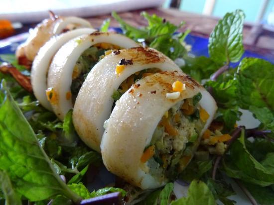 SAU Restaurant: Squid stuffed with pork - Mick's favourite